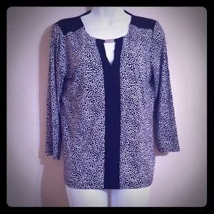 Jones New York black and white top Sz small